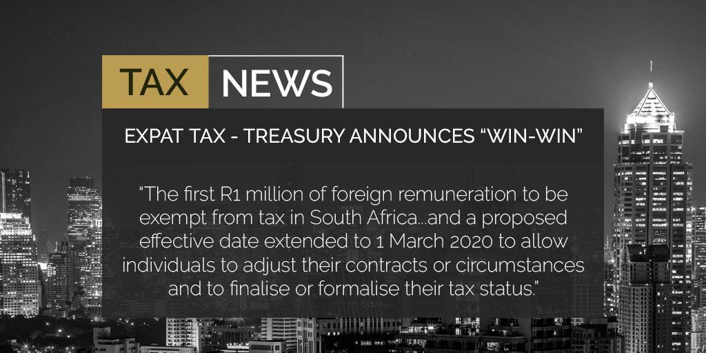 """Expat Tax - Treasury Announces """"Win-Win"""""""