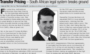 Transfer Pricing - South Africa legal system breaks ground