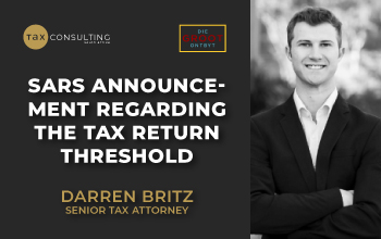 SARS announcement regarding the tax return threshold