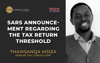 SARS announcement regarding the tax return threshold