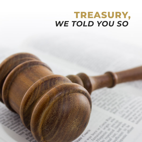 Treasury, we told you so