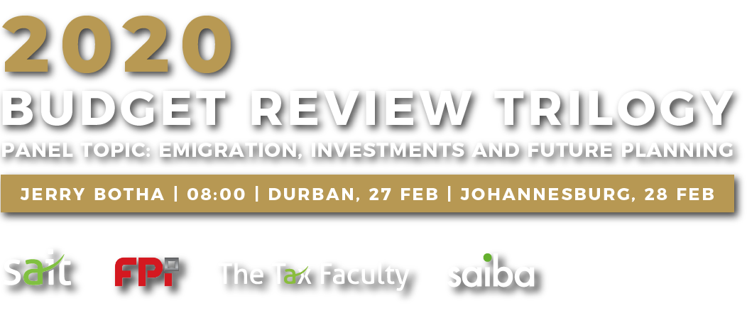 2020 Budget Review Trilogy Durban and Johannesburg