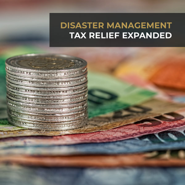 Disaster Management Tax Relief Expanded