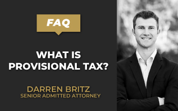 What is provisional tax