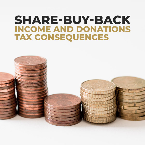 Share-Buy-Back Income and Donations Tax Consequences