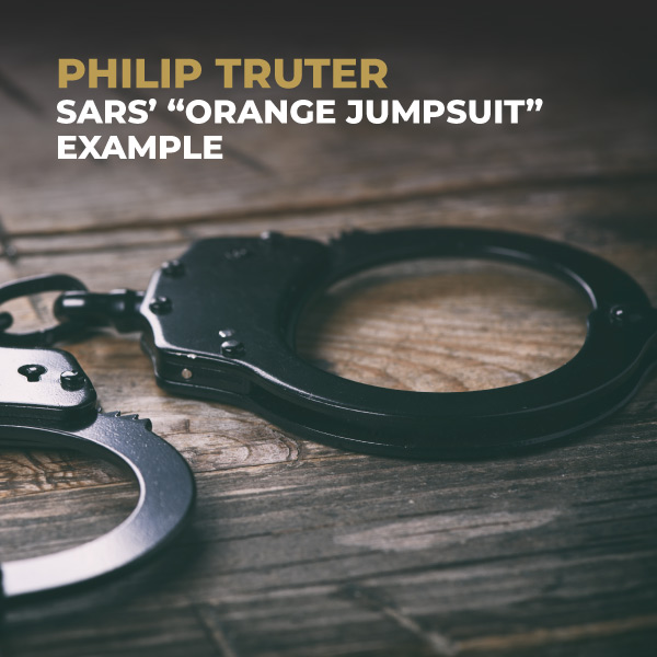 Philip Truter-SARS Orange Jumpsuit Example