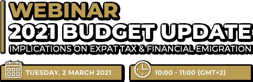 2021 Budget Update